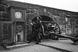 Time Gun at Edinburgh Castle 1945 Photographic Print by George Greenwell