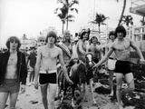 The Byrds in Miami, Florida 1965 Fotografisk tryk af Curt Gunther