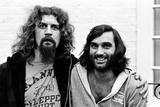 Billy Connolly Meets George Best 1977 Fotografisk tryk af Kent Gavin