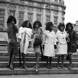 The Supremes in London 1965 Fotografisk tryk af Cyril Maitland