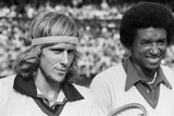 Arthur Ashe Wimbledon 1975 Photographic Print by Mike Maloney
