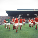 Arsenal V Man U League Match August 1970 Reproduction photographique par  Staff