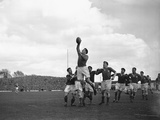 Wales V France Five Nations Rugby Championship, 1952 Fotoprint van  Staff