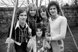 Bay City Rollers pop group in Edinburgh. February 1975 Photographic Print by  Staff