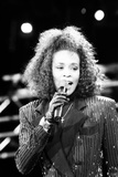 Whitney Houston at Nelson Mandela's Birthday Celebration 1988 Fotografisk tryk af Brendon Monks