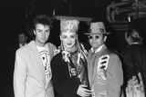 Boy George, Paul Young and Elton John at Wembley in 1984 Photographic Print by Will Dyson
