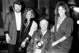 "Silver disc presentation for ""I know Him So Well"" 1985 Photographic Print by Andy Hosie"