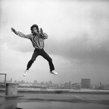 Mick Jagger on Daily Mirror Office Roof, 1987 Photographic Print by Brendan Monks