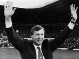 New Manchester United Manager Alex Ferguson at Old Trafford 1986 Fotografisk tryk af Phil Richards