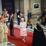 Queen Elizabeth Ii and Prince Philip at St Pauls Cathedral 1977 Photographic Print by Daily Mirror