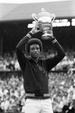 Arthur Ashe Wimbledon 1975 Photographic Print by  Staff