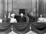 Prime Minister Winston Churchill joins Royal Family 1945 Photographic Print by  Staff