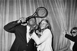Muhammad Ali and Bjorn Borg Fotografisk trykk av  Staff