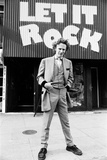 Malcolm Mclaren Outside His Shop 'Let it Rock' in the King's Road 1972 Photographic Print by Peter Stone