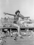 Brighton's Outdoor Swimming Pool 1952 Reproduction photographique par  Staff