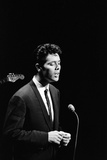 Royal Command Rehearsal. Cliff Richard Performing, 1962 Fotografisk tryk af  Staff