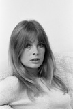 Jean Shrimpton Pictured at Her Home 1967 Photographic Print by Bela Zola