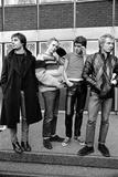 Sex Pistols news press conference at EMI Offices in Manchester 1976 Fotografisk tryk af Peter Stone