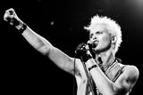 Billy Idol in concert on Long Island, New York. 11th September 1984 Fotografisk tryk af Peter Stone