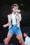Cliff Richard at Wembley Stadium 1989 Fotografisk tryk af Daily Mirror
