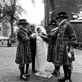 Wedding at Tower of London 1968 Photographic Print by Eric Weller