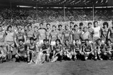 Charity Shield Match at Wembley Stadium. Everton and Liverpool, 1986 Fotografisk tryk af  Staff