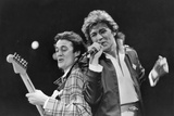 George Michael and Andrew Ridgley of Wham! 1984 Reproduction photographique par  Staff