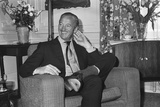 David Niven Relaxes in London Hotel, 1969 Photographic Print by  Staff