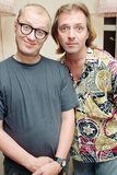 Rik Mayall and Ade Edmondson, 1991 Photographic Print by  Wright