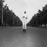 Cassius Clay Running in the Mall London Fotoprint van Arthur Sidey
