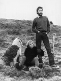 Paul and Linda McCartney at home in Scotland 1971 Photographic Print by Daily Record