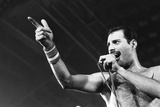 Rock Group Queen in Concert at Wembley Arena 1984 Fotografisk tryk af Nigel Wright