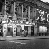 Exterior View of the Garrick Theatre in London's West End. April 1958 Photographic Print by  Staff