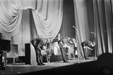 The Beatles on Stage in Carlisle, 1963 Fotoprint van  Staff
