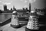 The Filming of Dr Who - Daleks 1964 Photographic Print by Manchester MIrror