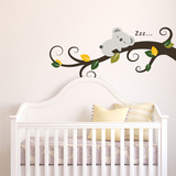 Sleeping Koala and Tree Branch Autocollant mural