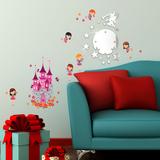 Fairy Mirror Art & Angel Castle Adesivo de parede