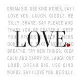 Love and Life I Premium Giclee Print by  SD Graphics Studio
