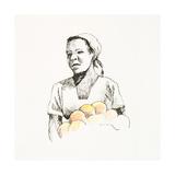 Sketched Woman II Print by Jane Slivka