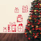 Christmas Hearts - 231 Pieces Adesivo de parede