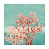 Teal Coral Reef II Premium Giclée-tryk af Patricia Pinto