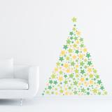 Christmas Stars - 240 Pieces Adesivo de parede