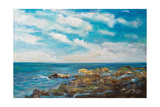 Into the Horizon I Reproduction giclée Premium par Julie DeRice