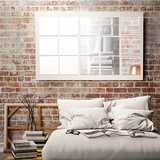 Square Mirror Wall Art - 32 Pieces Autocollant mural