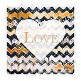 Love and Peace Square I Stampa giclée premium di Patricia Pinto