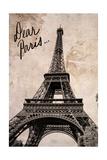 Dear Paris Poster by Emily Navas