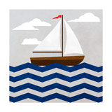 Chevron Sailing I Art by  SD Graphics Studio