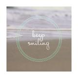Keep Smiling Giclée-Premiumdruck von Lisa Hill Saghini