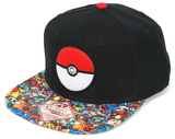 Pokemon- Pokeball Sublimated Snapback Chapéu
