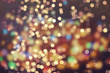 Festive Background with Natural Bokeh and Bright Golden Lights. Vintage Magic Background with Color Lámina fotográfica por  Maximusnd